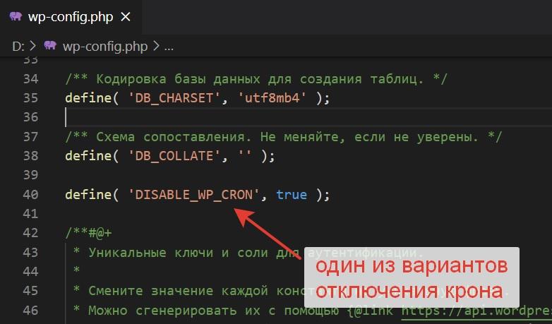 DISABLE_WP_CRON