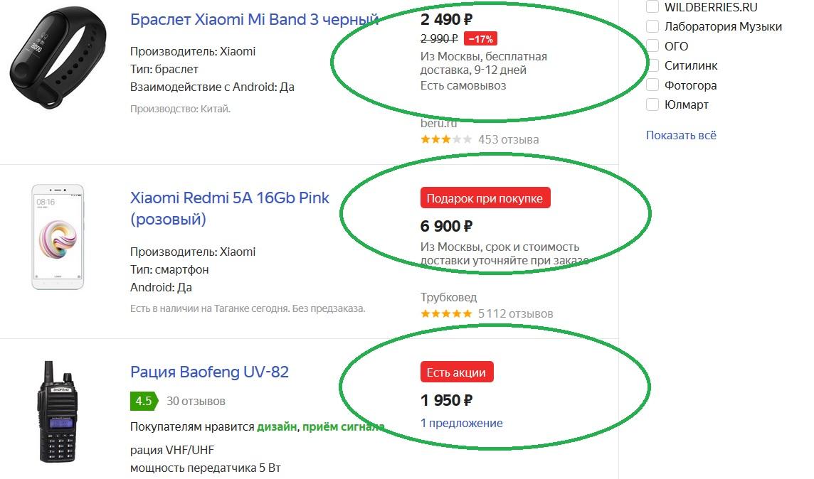 Пример Промо на Яндекс Маркете